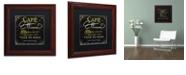 "Trademark Global Color Bakery 'La Cuisine Ii' Matted Framed Art, 11"" x 11"""