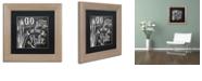 """Trademark Global Color Bakery 'Lake House V' Matted Framed Art, 11"""" x 11"""""""