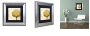 "Trademark Global Color Bakery 'Cafe D?Or Ii' Matted Framed Art, 11"" x 11"""