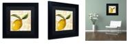 """Trademark Global Color Bakery 'Cafe D?Or Iv' Matted Framed Art, 11"""" x 11"""""""