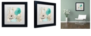 "Trademark Global Color Bakery 'Beach Poppies Iii' Matted Framed Art, 11"" x 11"""