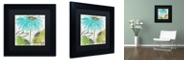 "Trademark Global Color Bakery 'Daisy Morning Ii' Matted Framed Art, 11"" x 11"""
