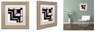 "Trademark Global Color Bakery 'Daring Deco Ii' Matted Framed Art, 11"" x 11"""