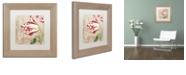 "Trademark Global Color Bakery 'Peppermint Tulips Ii' Matted Framed Art, 11"" x 11"""