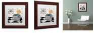 """Trademark Global Color Bakery 'Fifties Kitchen I' Matted Framed Art, 11"""" x 11"""""""
