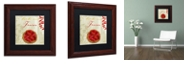 "Trademark Global Color Bakery 'Tartes Francais, Strawberry' Matted Framed Art, 11"" x 11"""