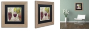 "Trademark Global Color Bakery 'Wine Cellar I' Matted Framed Art, 11"" x 11"""