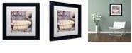 "Trademark Global Color Bakery 'Le Bain Paris Ii' Matted Framed Art, 11"" x 11"""
