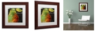 """Trademark Global Color Bakery 'Painted Pear I' Matted Framed Art, 11"""" x 11"""""""