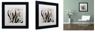 """Trademark Global Color Bakery 'Flowering Herbs I' Matted Framed Art, 11"""" x 11"""""""