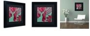 "Trademark Global Color Bakery 'Woodland Winter Iv' Matted Framed Art, 11"" x 11"""