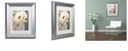 "Trademark Global Color Bakery 'Poppy Brocade Ii' Matted Framed Art, 11"" x 14"""