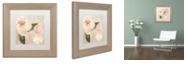 """Trademark Global Color Bakery 'Parfum De Roses I' Matted Framed Art, 11"""" x 11"""""""