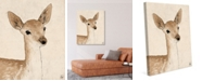 "Creative Gallery Little Rustic Deer Drawing 24"" X 36"" Canvas Wall Art Print"