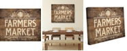 "Creative Gallery Vintage Farmer'S Market Sign On Wood Pattern 20"" X 24"" Canvas Wall Art Print"