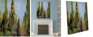 "Creative Gallery Watercolor |talian Cedar Trees On 24"" X 36"" Canvas Wall Art Print"
