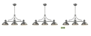 ELK Lighting Chadwick 3 Light Island in Weathered Zinc with Frosted Glass Diffusers