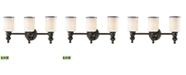 ELK Lighting Bristol Collection 3 light bath in Oil Rubbed Bronze - LED, 800 Lumens (2400 Lumens Total) with Full Scale Dimming Range