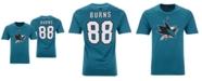 Majestic Men's Brent Burns San Jose Sharks Authentic Stack Name & Number T-Shirt