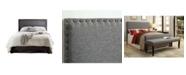 Furniture of America Manetta Twin Upholstered Headboard