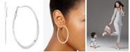 Alfani Silver-Tone Flat-Edge Hoop Earrings, Created for Macy's