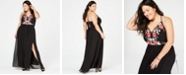 1b3e1e774 Nightway Plus Size Embroidered Corset-Back Gown & Reviews - Dresses ...