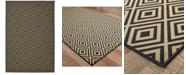 """Oriental Weavers Marina 2335K Black/Tan 1'9"""" x 3'9"""" Indoor/Outdoor Area Rug"""