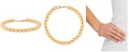 Italian Gold Polished Bead Bracelet in 14k Gold
