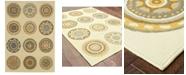 """Oriental Weavers Bali 3162U Ivory/Gray 1'9"""" x 3'9"""" Indoor/Outdoor Area Rug"""