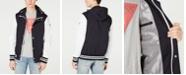 GUESS Men's Lightweight Seersucker Colorblocked Jacket
