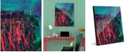 "Creative Gallery Nightcrawlers Beta Abstract 24"" x 36"" Acrylic Wall Art Print"