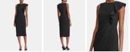 Lauren Ralph Lauren Ruffle-Trim Crepe Dress