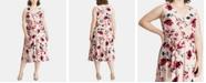 Lauren Ralph Lauren Plus Size Floral-Print Midi Dress