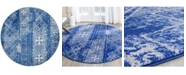 Safavieh Adirondack Silver and Blue 6' x 6' Round Area Rug
