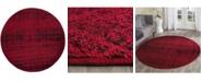 Safavieh Adirondack Red and Black 6' x 6' Round Area Rug