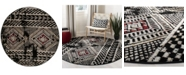 Safavieh Adirondack Black and Light Gray 6' x 6' Round Area Rug