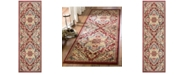 "Safavieh Kashan Red and Beige 2'6"" x 8' Runner Area Rug"
