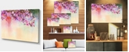"Design Art Designart Watercolor Painting Cherry Blossoms Floral Canvas Art Print - 32"" X 16"""