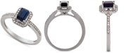 Macy's Sapphire (5/8 ct. t.w.) & Diamond (1/5 ct. t.w.) Ring in 14k Gold (Also Available in Certified Ruby & Emerald)