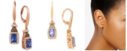 Le Vian Blueberry Tanzanite (3/4 ct. t.w.), Nude Diamond (1/2 ct. t.w.) and Chocolate Diamond (1/10 ct. t.w.) Earrings in 14k Rose Gold