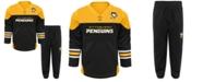 Outerstuff Pittsburgh Penguins Playmaker Pant Set, Infants (12-24 months)