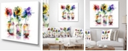 """Design Art Designart Abstract Flowers In Glass Vases Extra Large Floral Wall Art - 40"""" X 30"""""""