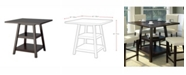 Corliving Distribution CorLiving Counter Height Dining Table with Shelves