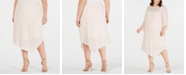 Alfani Plus Size Novelty Pointed-Hem Midi Skirt, Created for Macy's