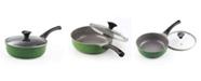 "Cook N Home 3-Quart 9.5"" 24cm Nonstick Ceramic Deep Saute Stir Fry Pan Wok with Lid"