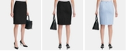 Calvin Klein Scuba Crepe Pencil Skirt