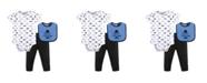 Hudson Baby Bodysuits, Pants and Bibs Set, 0-12 Months