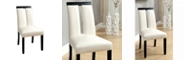Benzara Contemporary Side Chair - Solid Wood - Set Of 2