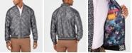 Tallia Men's Slim-Fit Leopard-Print Jacquard Bomber Jacket