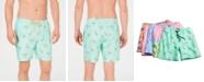 "Club Room Men's Quick-Dry Performance Flamingo-Print 7"" Swim Trunks, Created for Macy's"
